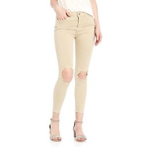 FREE PEOPLE / HIGH RISE BUSTED SKINNY JEAN